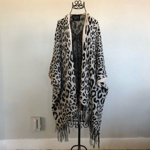 Leopard Sweater Poncho